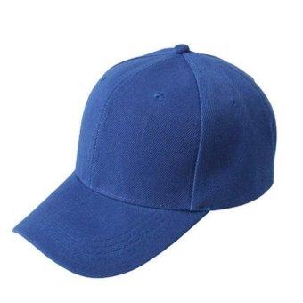 Baseball Cap Blank Hat Solid Color Adjustable Hat Blue