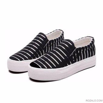 Giày lười Slip On nữ Rozalo RWG3665B-Đen
