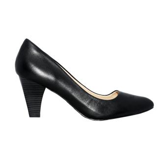 Giày nữ cao gót 8cm da bò thật ESW33 Cung cấp bởi ELMI (Đen)
