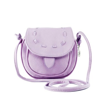New Fashion Women Mini Shoulder Bag PU Leather Messenger Crossbody Bag Drawstring Handbag Purple (Intl)