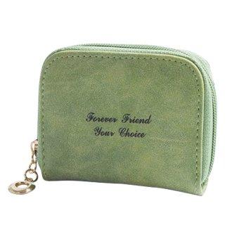 Cute Scrub handbag Mini Purses Small Wallet Coin Bag Card Holders Pouch Zip Green - INTL