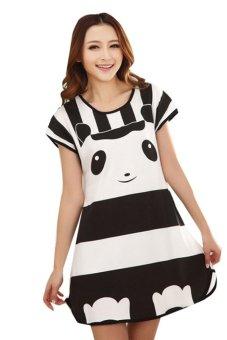Váy ngủ nữ Family Shop VNF22 (Đen phối trắng)