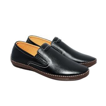 Giày nam da bò thật cao cấp màu đen ESM44 ELMI da thật