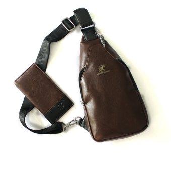Túi đeo chéo lưng CL01D (Nâu đậm)