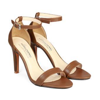 Giày Sandal Nữ Gót Nhọn Bít Hậu HC1353 (Nâu).