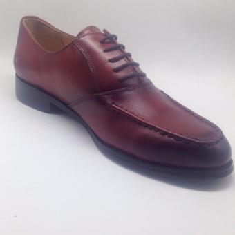 Giày tây da nam cột dây ( Đỏ rượu )