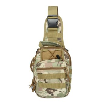 niceEshop Outdoor Tactical Backpack, Canvas Shoulder Sling Backpack Chest Deployment Bags for Camping,Hiking,Trekking,Rover Sling Pack Chest Pack,CP Camouflage - intl