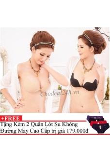Bộ 2 Áo dán nâng ngực tạo khe ngực.vn + tặng 2 Quần Chip Su Cao Cấp Loại 1