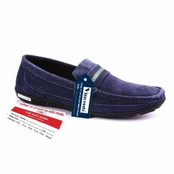 Giày lười nam Da ThậtGiày Da Miền Trung VCT8LZD06X-1 (Xanh)