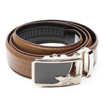 Thắt lưng nam khóa gạt DaH2 D0018VKG15 (Nâu Vàng)