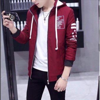 Áo hoodie nam - áo dù nam-áo khoác dù nam- áo khoác dù nam giá rẻ- dù nón (đỏ)