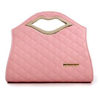 Trendy Lip and Checked Design Women's Shoulder Bag - intl