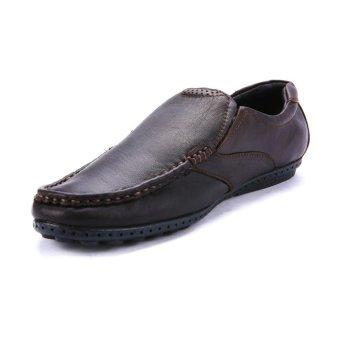 Giày mọi nam da thật Da Giày Việt Nam VNL8ZAD96N (Nâu)