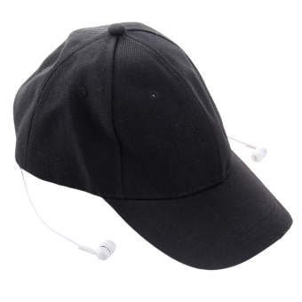 Wireless Bluetooth 3.0 Hands-free Headphone Headset Phone Call Answer Music Sports Baseball Cap Hat Black
