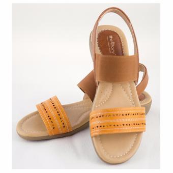 [The bany] Sandal đế bằng 3cm quai cam