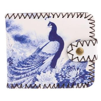Sunwonder New Women Synthetic Leather Print Wallet Bifold Soft National Style Casual Short Purse