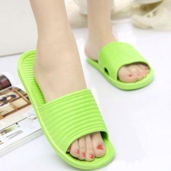 Moonar Women Flat Home Bath Slippers Summer Sandals Non-slip Shoes (green) - intl