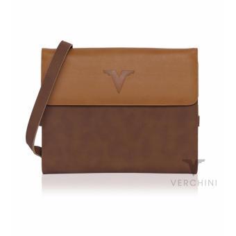 Túi ipad đa năng Verchini màu vàng bò+nâu 003389