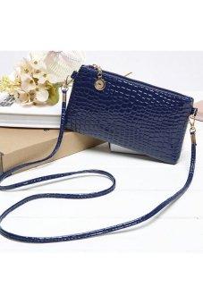 HKS Women PU Leather Hangbag Blue - intl