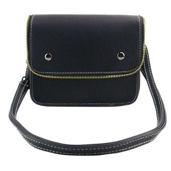 Fashion Women PU Leather Mini Messenger Zipper Bag Shoulder Crossbody Bag - intl