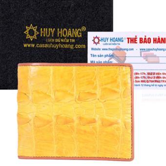 Bóp Nam Huy Hoàng Da Cá Sấu Gai Đuôi (Vàng)
