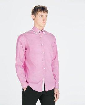 Áo Sơ Mi Nam Zara Slim Fit (Hồng)