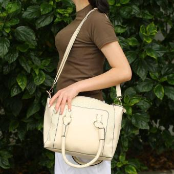 OH New Fashion Leather Women Lady Messenger Handbags Single Shoulder Bags Beige