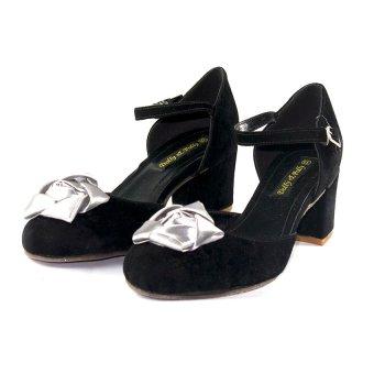 Sandal hoa Hồng DL4186 (Đen ghi)