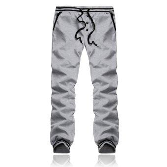PODOM Men Harem Casual Baggy HipHop Dance Jogger Gym Sweat Pants Trousers Slacks Lt Gary - Intl
