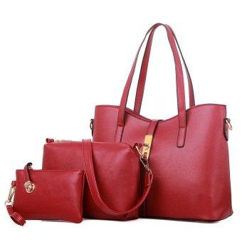 High Quality 3PCS Set Women Shoulder Bag Handbag Clutches - intl