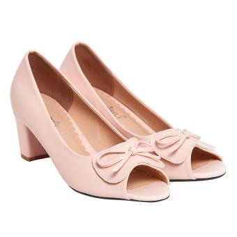 Giày cao gót nữ hở mũi Sarisiu GV740 (Hồng)