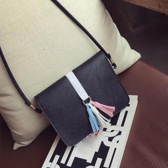 Fashion Universal Mobile Phone Bag Pocket Case Messenger Bag Shoulder Bags BK - intl