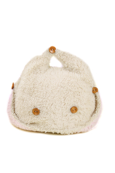 Lovely Winter Warm Baby Beanie Hat Earmuff Hat Warm Ear Cap Hat with Buttons Beige with Coffee Size - Intl
