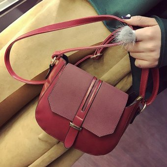 Women Fashion Arrow Handbag Shoulder Bag Tote Ladies Purse Red - intl