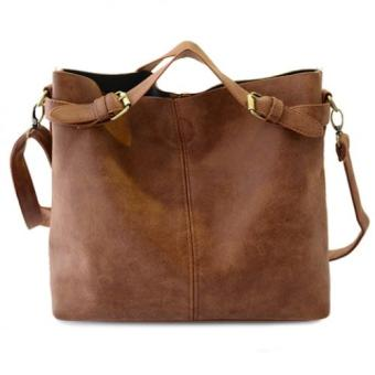 Simple Style Solid Color and Buckle Design Women's Tote Bag - intl