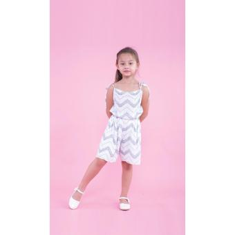 Jumpsuit bé gái Ugether UKID172 (Sọc)