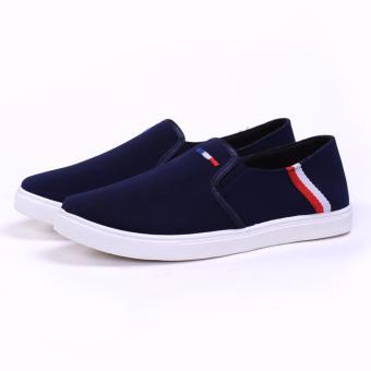 Giày Lười Vải Nam - Cv06 (Xanh)