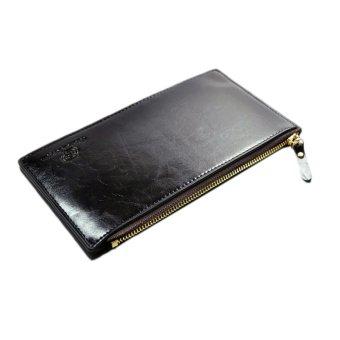 Fancyqube Wallet Long Zip Business Man Clutch Coin Purse Card Bag Black - Intl