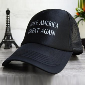 LALANG Fashion Men Baseball Cap Letter Printed Sun Hat 3# (Black) - intl