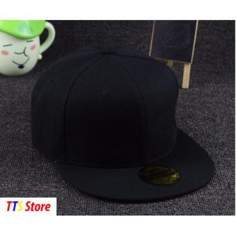 Mũ nón snapback hiphop unisex TTS Store (Đen)
