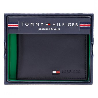 Ví da Tommy Hilfiger Men's multi Card Passcase Wallet (Đen)