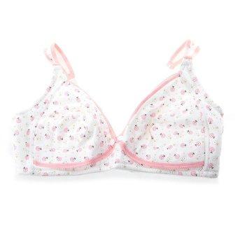 HKS Maternity Pregnant Nursing Breastfeeding Bra Cotton 40/90C Women (Pink) - intl