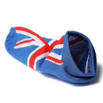 Men Women National Flag Ankle Low Cut Casual Cotton Socks Sport Boat Invisible England - intl