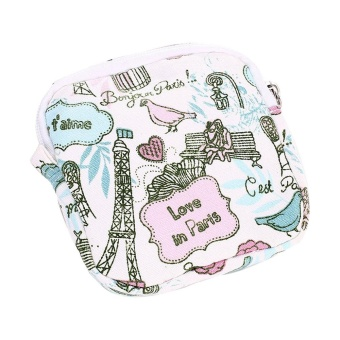 Women Girl Cute Sanitary Pad Organizer Holder Napkin Towel Convenience Bags - intl