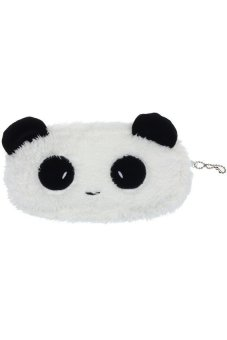 HKS Cute Plush Panda Pen Pencil Case Cosmetic Makeup Bag Coin Purse Wallet - intl