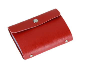 niceEshop Cow Leather Fashion Purse Casual Wallet( Red )
