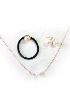 Bộ trang sức thời trang đính Ngọc trai Alamode Paris ALM 5003S (Trắng)