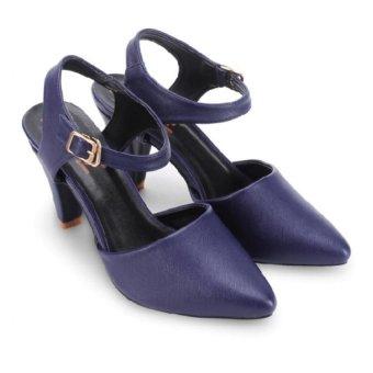 Giày nữ Huy Hoàng cột dây hởGót (Xanh đậm)