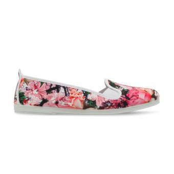 Giày Lười Flossy Pollensa (Trắng Họa Tiết Hoa)