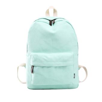 Women Canvas School Bag Girl Backpack Travel Rucksack Shoulder Bag Green - Intl